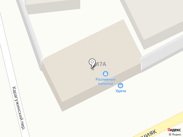 Магазин на переулке на карте Горно-Алтайска