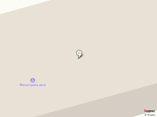 Магистраль-Авто на карте Гурьевска