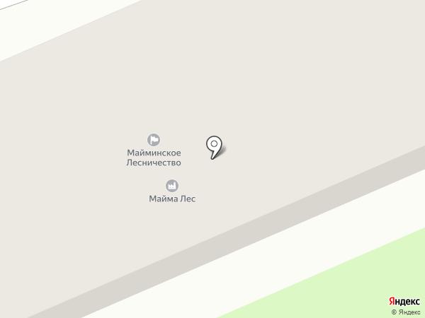 Майма Лес на карте Горно-Алтайска