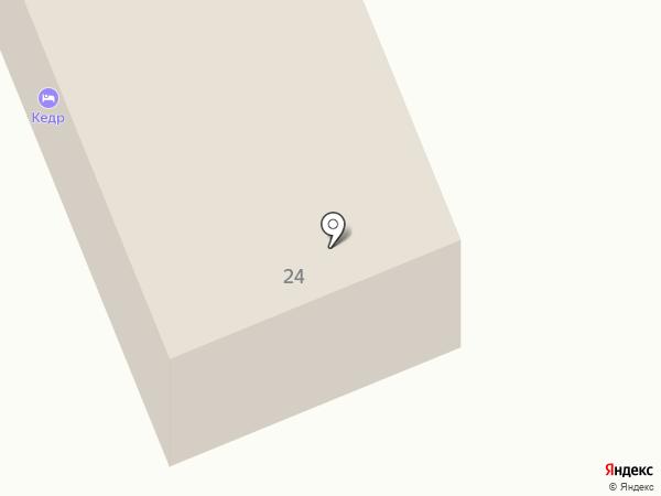 Кедр на карте Чемала