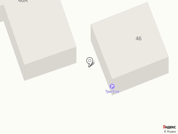 Три ели на карте Чемала