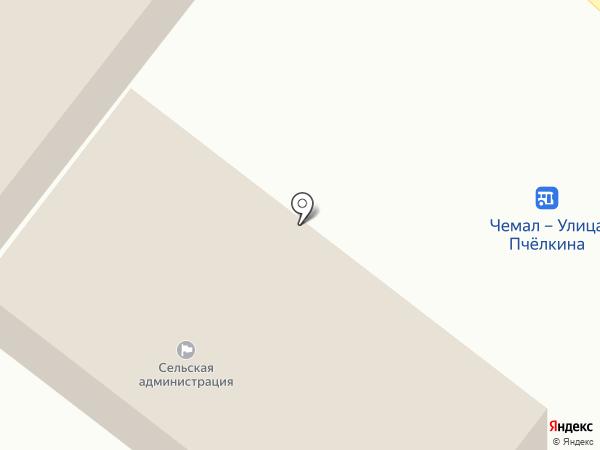 Совет ветеранов Чемальского сельского поселения на карте Чемала
