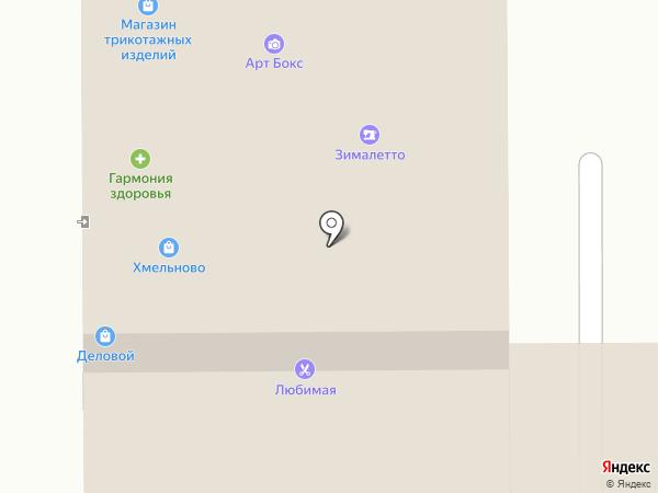 Абрис на карте Кемерово