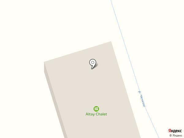 Чечкыш на карте Чемала
