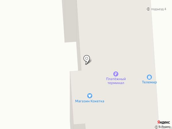 Кокетка на карте Бачатского