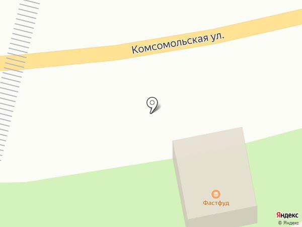 Продуктовый магазин на Комсомольской на карте Бачатского