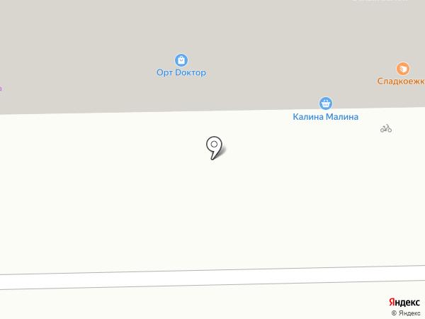 Крендель на карте Кемерово