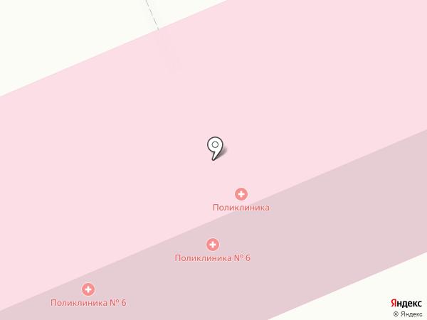 Городская поликлиника №6 на карте Бачатского
