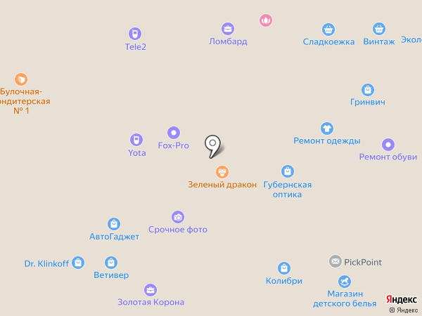 Планета чая на карте Кемерово