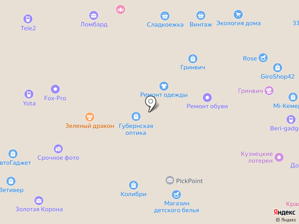 Jolie на карте Кемерово