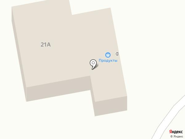 Продовольственный магазин на карте Ленинска-Кузнецкого