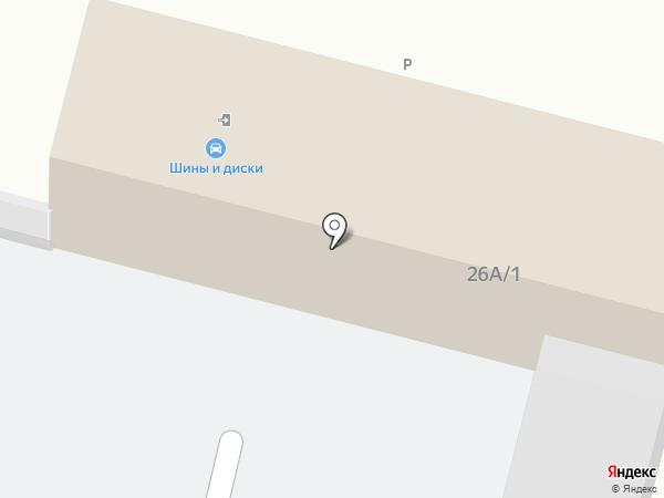 Магазин автотоваров на карте Ленинска-Кузнецкого