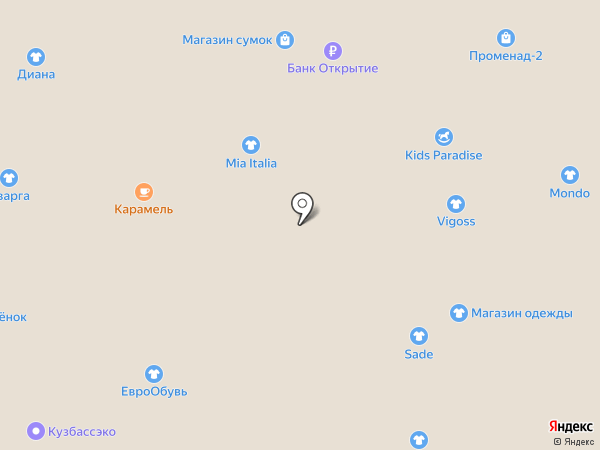 Бутик женской одежды на карте Кемерово
