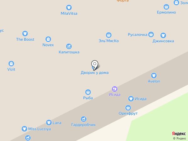Белый мир на карте Кемерово