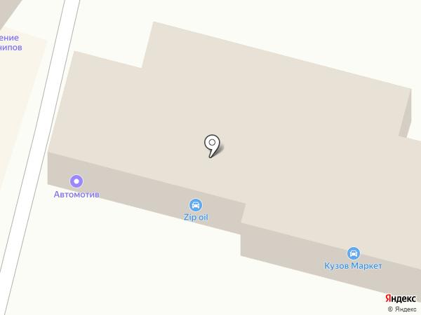 Автомотив на карте Ленинска-Кузнецкого