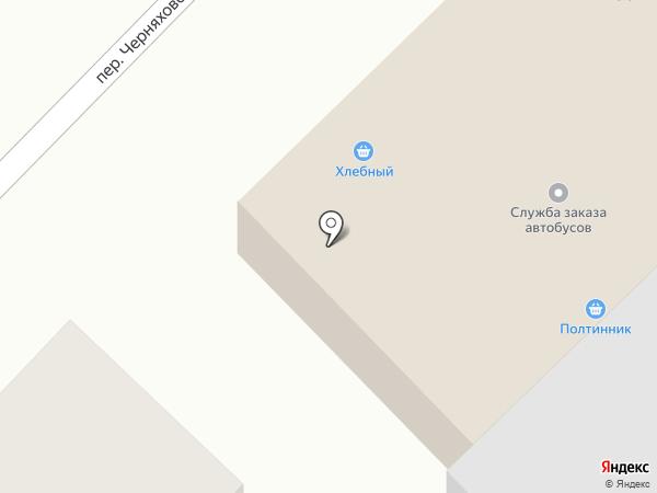 Служба заказа автобуса на карте Ленинска-Кузнецкого