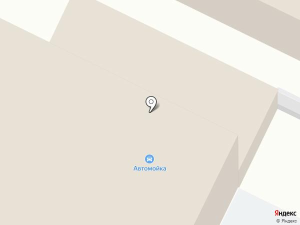 Автомойка на Топкинской на карте Ленинска-Кузнецкого