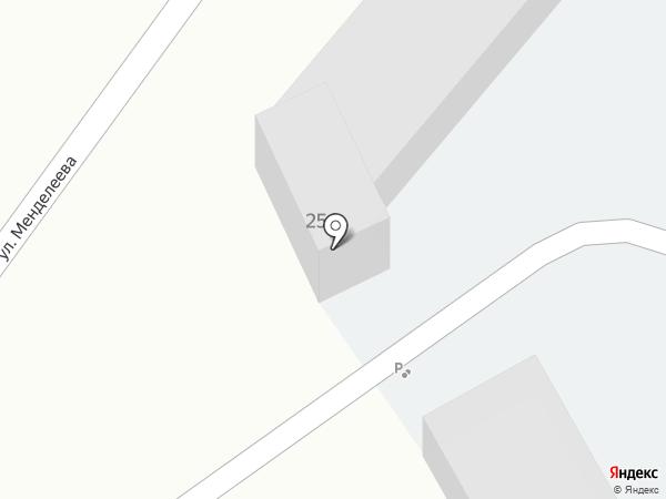 Автостоянка на ул. Менделеева на карте Ленинска-Кузнецкого