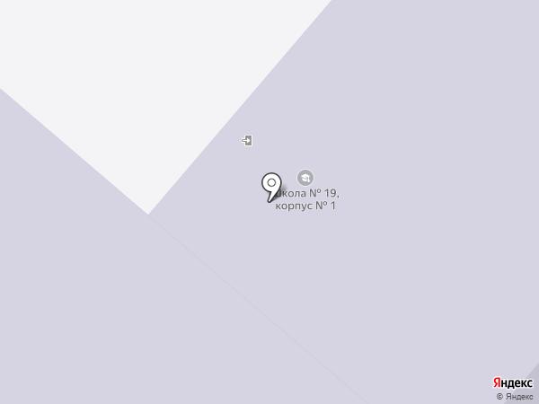 Основная общеобразовательная школа №19 на карте Ленинска-Кузнецкого