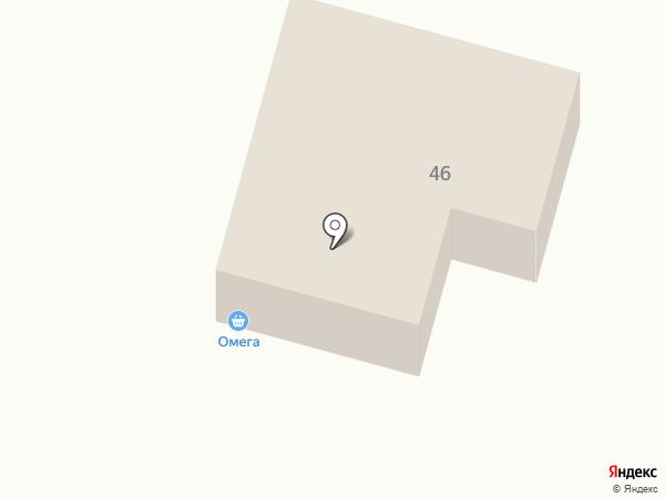 Омега на карте Белово