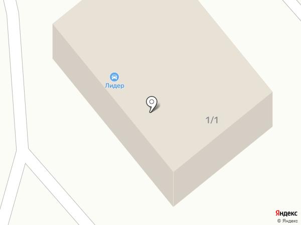 Шиномонтажная мастерская на ул. Обнорского на карте Нового Городка