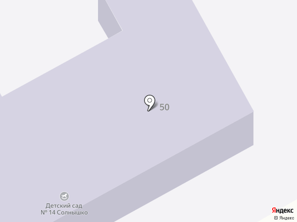 Детский сад №14, Солнышко на карте Нового Городка