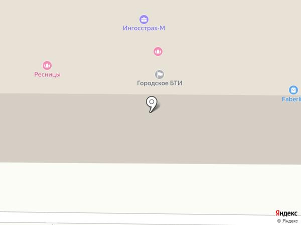 Лев на карте Белово