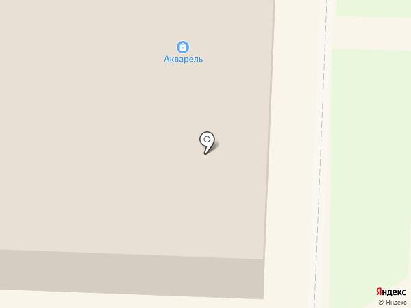 Акварель на карте Белово