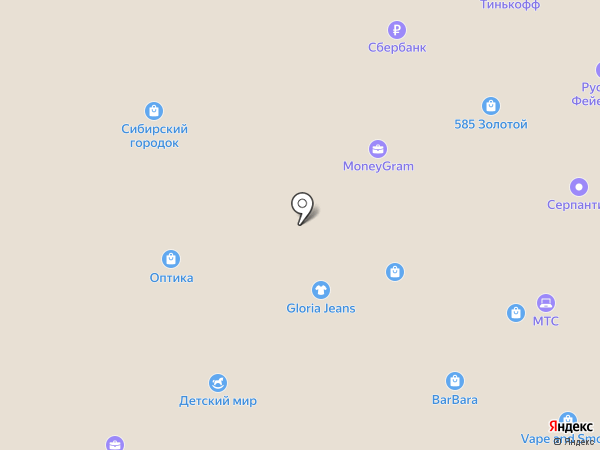 Л`Этуаль на карте Белово