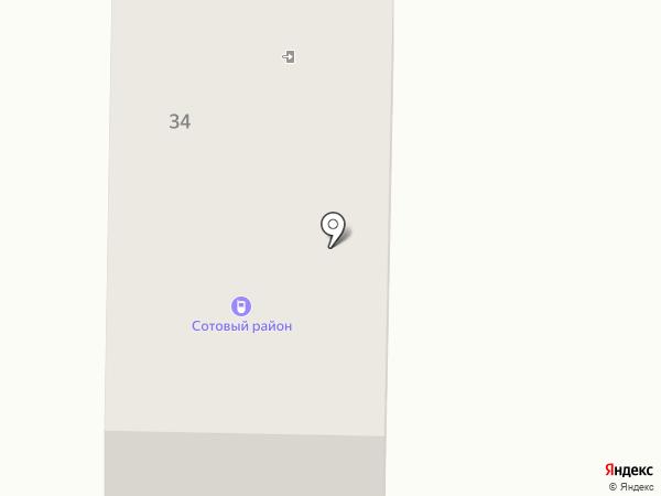 Сотовый район на карте Белово