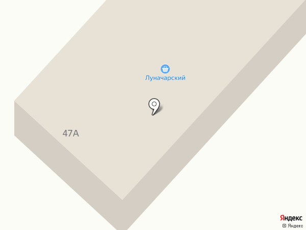Луначарский на карте Белово
