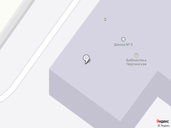 Основная общеобразовательная школа №5 на карте Белово