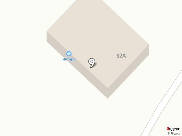 Янтарь на карте Белово