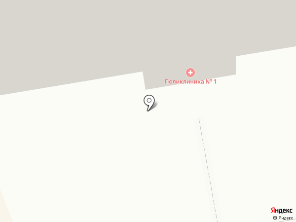 Поликлиника №1 на карте Киселёвска