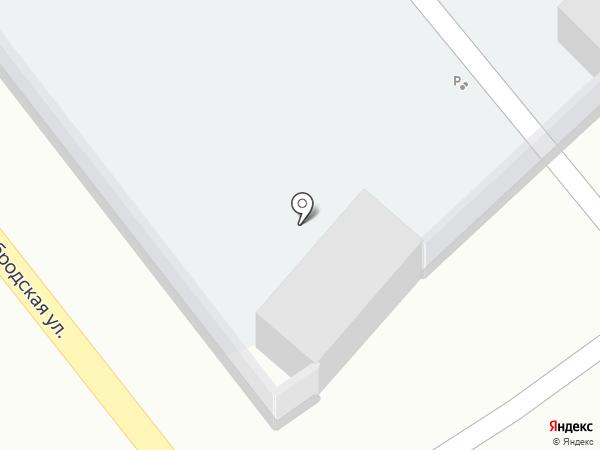 Автостоянка на Краснобродской на карте Киселёвска
