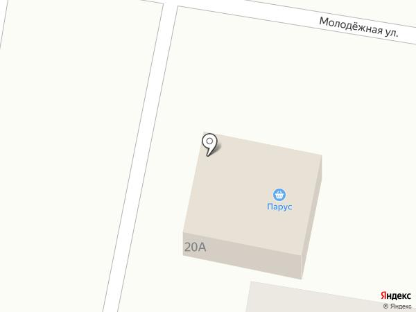Парус на карте Новосафоновского