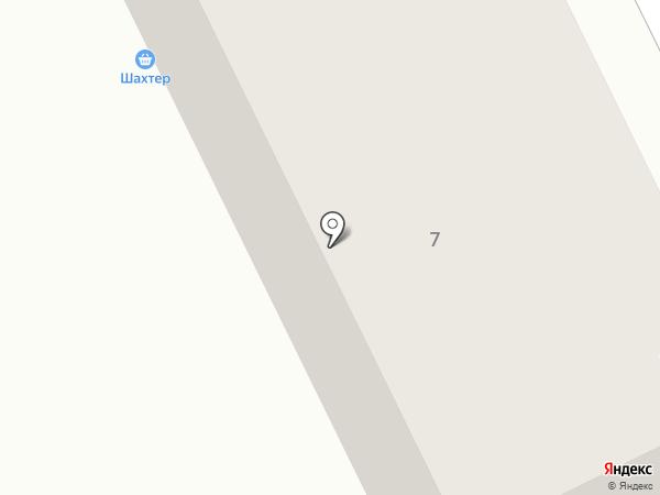 Шахтер на карте Киселёвска