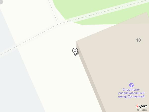 Солнечный на карте Прокопьевска