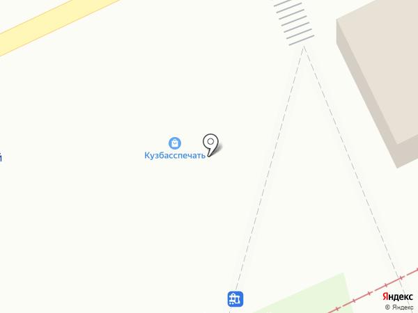 Снежный городок на карте Прокопьевска
