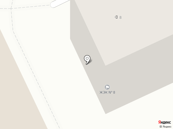 ЖЭК №8 на карте Прокопьевска