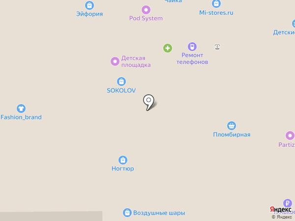 Доберман на карте Прокопьевска