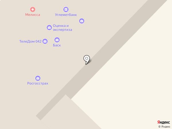 Геолан на карте Киселёвска