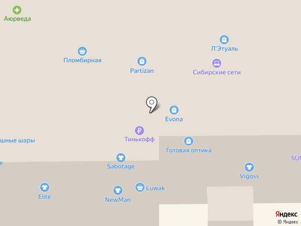 Evona на карте Прокопьевска