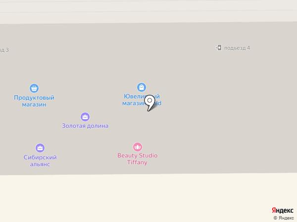 Продуктовый магазин на проспекте Гагарина на карте Прокопьевска