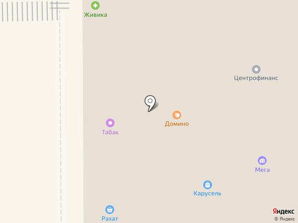 Табакерка на карте Прокопьевска