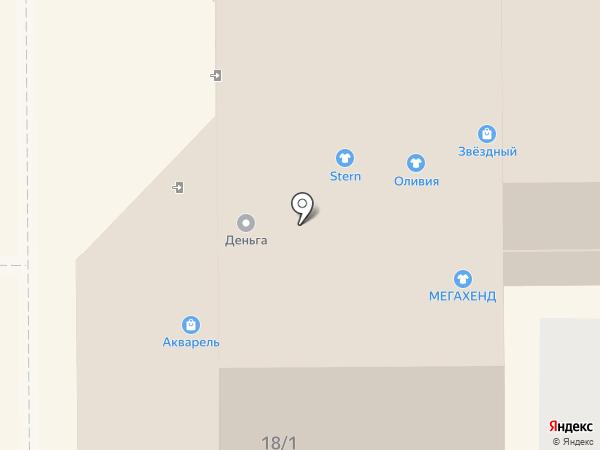 Акварель на карте Прокопьевска