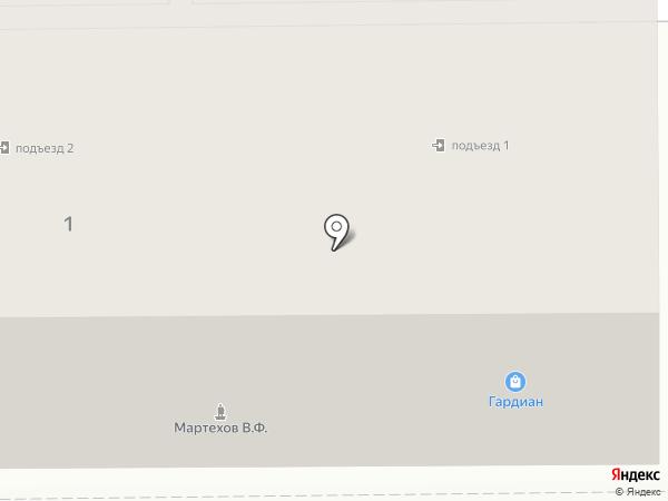 Гардиан на карте Прокопьевска