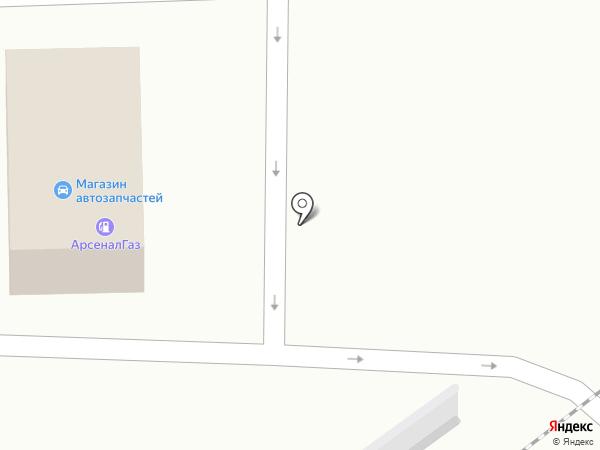 Магазин автозапчастей для автобусов на карте Прокопьевска
