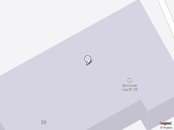 Детский сад №28 на карте Киселёвска