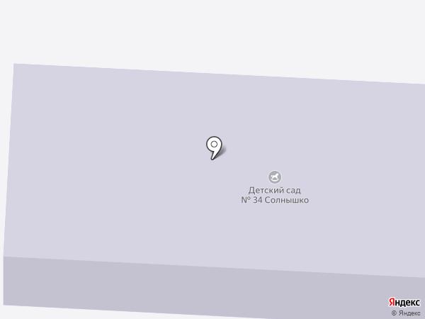 Детский сад №34 на карте Прокопьевска